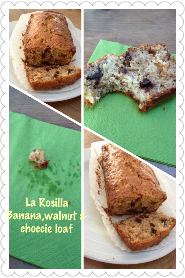 Banana, walnut & chocolate loaf recipe