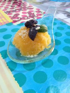 Mango & Basil Sorbet recipe form La Rosilla