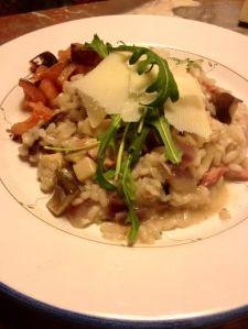 La Rosilla Risotto, wild mushroom & pancetta risotto recipe.