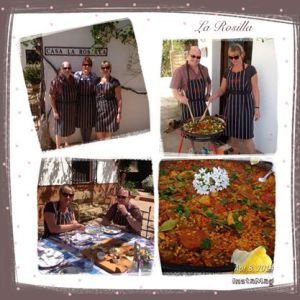 Paella cooking adventure at La Rosilla