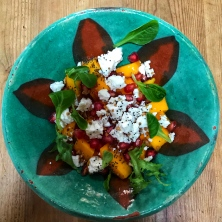 Mango & Pomegranate salad.